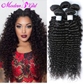 Top Cabelo Virgem Malaio Onda Profunda 4 Pacotes 7a Malaio Cabelo crespo encaracolado weave do cabelo humano Extensões de cabelo encaracolado profundo feixes