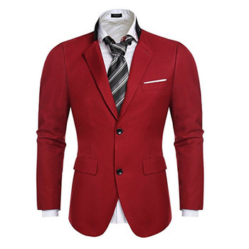 Fashionable men's suit jacket red yellow and black lapel single-breasted business casual jacket and men's office jacket custom