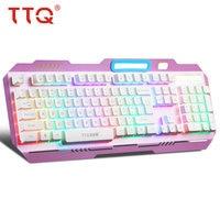 TTQ unicorn Mechanical Keyboard gamer wireless Multimedia gaming keyboard Laser carved laser Colorful rainbow teclado Keyboards