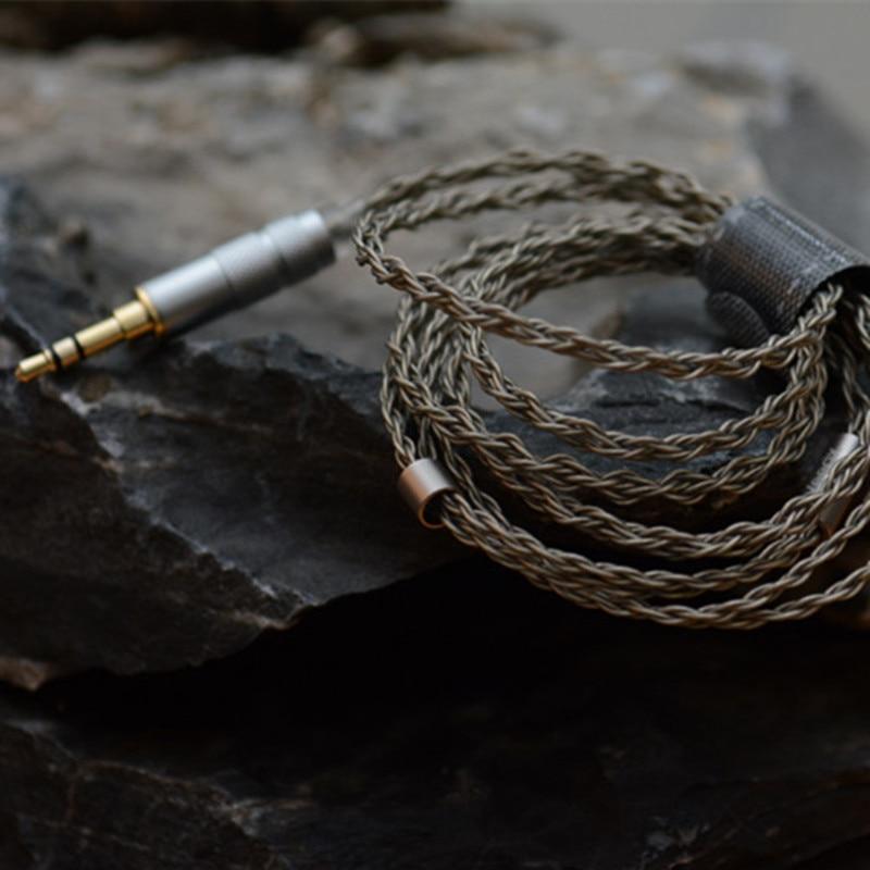 bilder für Marke Neue 8 core MMCX Verbesserte Silber Überzogene Kabel Kopfhörer Upgrade kabel für diy im03 se535 im70 se846 LZ A4 K3 pro kopfhörer