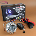 Motorcycle Headlight Mini 2.0 inch Angel Eyes HID Bi-xenon Lens Projectors Xenon Headlamp Light Retrofit Kit H4 H7 Motorcross