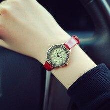 2016 de La Moda Clásica Magia del Vintage Roma Dial Aleación De Latón Fino Correa de Cuero Reloj de Cuarzo Reloj de pulsera para Señoras de las Mujeres Niñas OP001