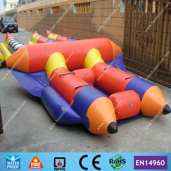 नि: शुल्क शिपिंग और CE / उल पंप और मरम्मत किट के साथ 4 व्यक्तियों inflatable flyfishing नाव