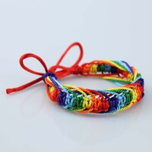 Bisexual Friendship Brand   Adjustable Bracelet