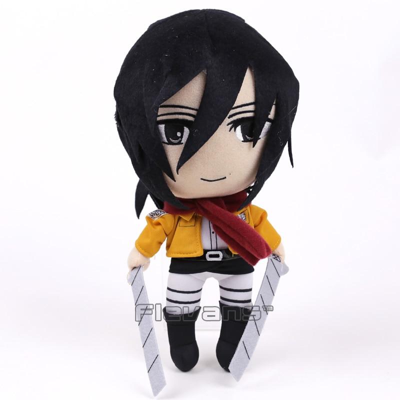 Attaque d'anime sur Titan Eren Jaeger Levi Mikasa Ackerman peluche peluche douce poupée 29 cm