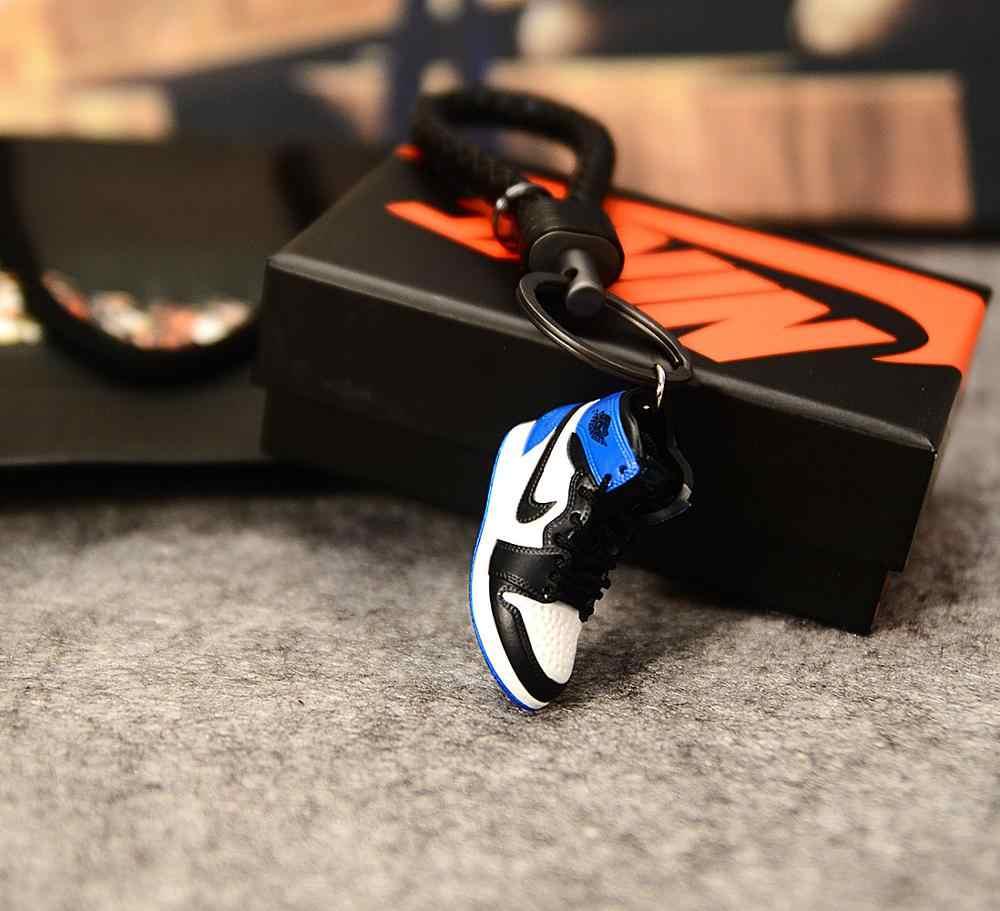 ドロップシッピング人格 DIY 世代ステレオ 3D スニーカーモデルキーホルダーバッグペンダントカップルキーホルダー