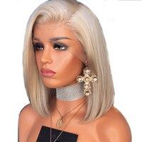 Beeos 613 блондинка 13*4 Синтетические волосы на кружеве парик предварительно срывать натуральных волос бразильский человеческих волос блондин