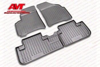 Thảm sàn cho SsangYong Rexton 2006-2012 4 cái cao su rugs non slip cao su nội thất ô tô styling phụ kiện