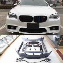 F10 F18 5 Series M-TECH Car body kit PP Unpainted front bumper Fender side skirts Rear For BMW 11-15