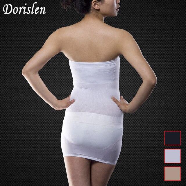 85a23a63f47d5 Dorislen Women Seamless Slimming Control Body Shaper Tube Dress Skirt  Shapewear 100pcs Lot
