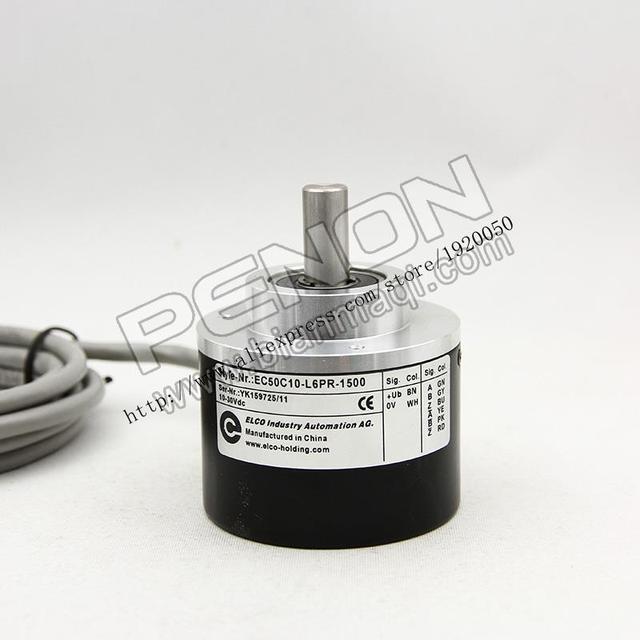 EC50C10-L6PR-1500 Elco elco codificador rotatorio óptico 1500 pulsos de diámetro exterior de 50mm