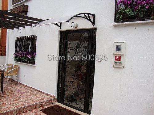 YP100240-alu 100x240 cm suporte de alumínio da porta e da janela de policarbonato toldo 39.37x94.5in marquesinas puertas