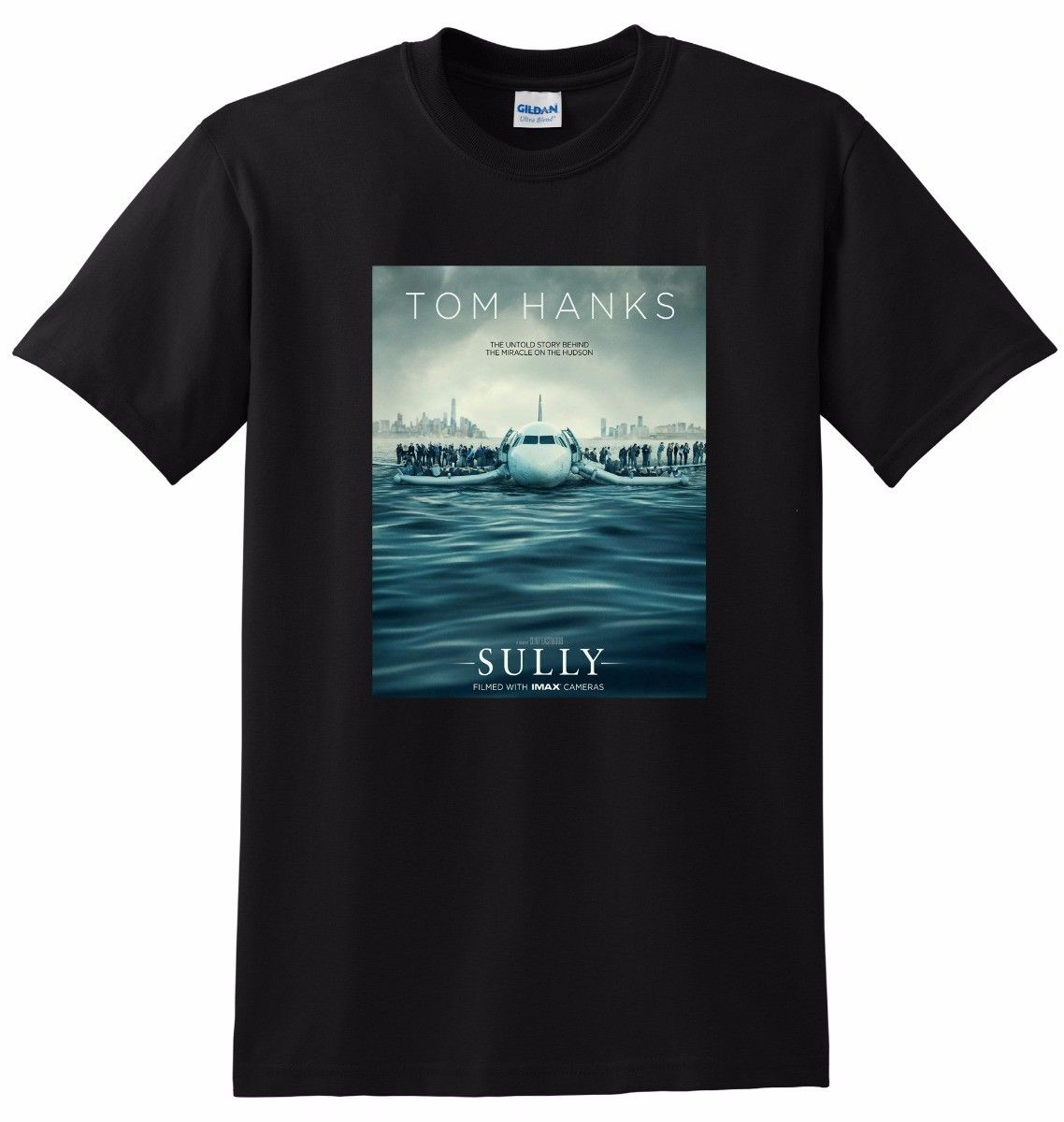 SULLY T SHIRT 2016 tom hanks movie poster tee SMALL MEDIUM LARGE or XXXL O-Neck Fashion Casual High Quality Print T Shirt image