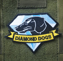 Metal Gear Solid 5 Diamant Honden patch militaires haak terug tactical patches cospaly game moreel voor jas vest(China)