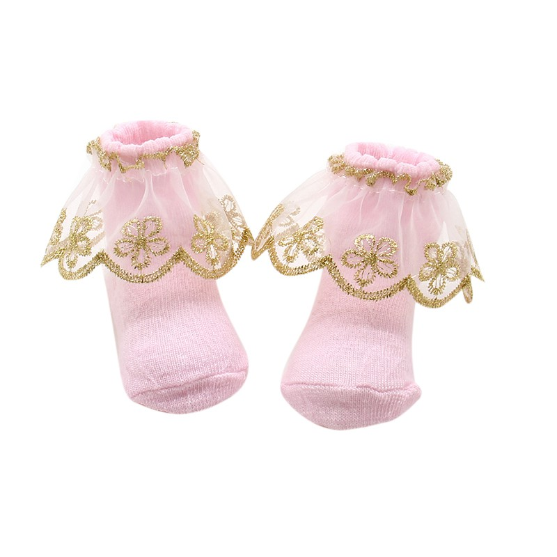 20182 Pairs Newborns Baby Kids Infant Socks Holiday Birthday Gifts For Baby Girls Mesh Ruffle Socks 0-12m Excellent Quality