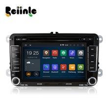 Beiinle Android 4.4.4 GPS Navigator 1024*600 DVD Radio QUAD CORE 16G 2 Din Car for VW B6 B7 CC Jetta Polo Golf Caddy