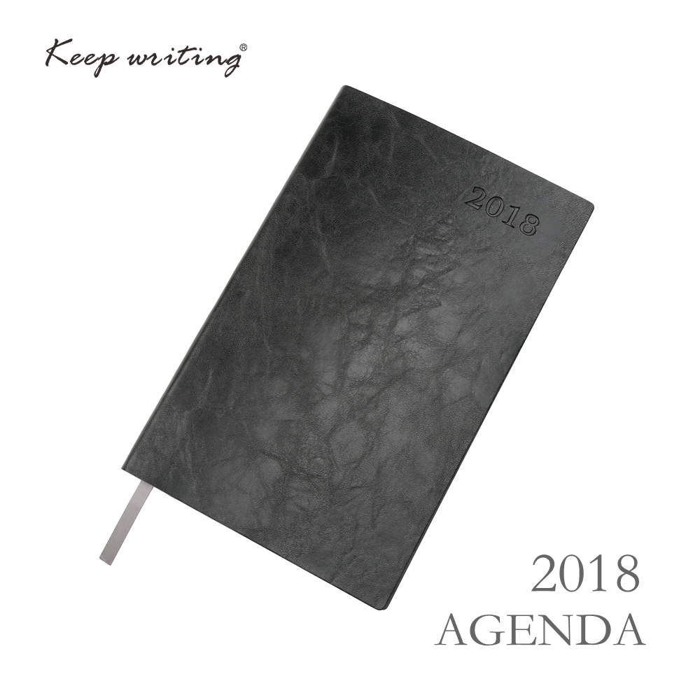 2018 week on one page with Lined Notes Planner Agenda 91 sheets 100gsm paper stationery Journal  12 Months Calendar Notebook
