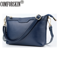 COMFORSKIN Brand 2018 New Arrivals Genuine Leather Women Messenger Bag Guaranteed 100% Hot Preppy Style Cross-body Bags