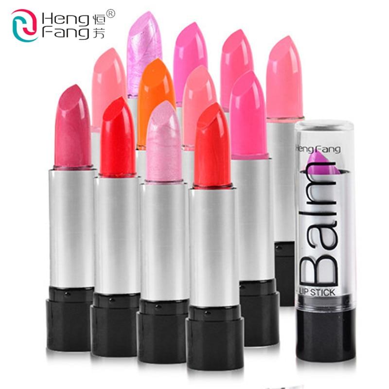 HENGFANG Beauty 12 Colors to Choose Glossy Lip Rouge matte lipstick Fashion Women Makeup Waterproof Cosmetics Lipstick Charms