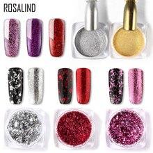 ROSALIND Nail Pigment Powder Nails Glitter Art Dip Powder Set Gel Poli