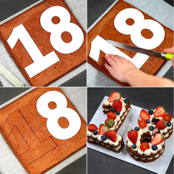 Moulds For Cakes Plastic Alphabet Number Cake Moulds Decorating Fondant Tools Wedding Birthday Baking Cake Accessories 1