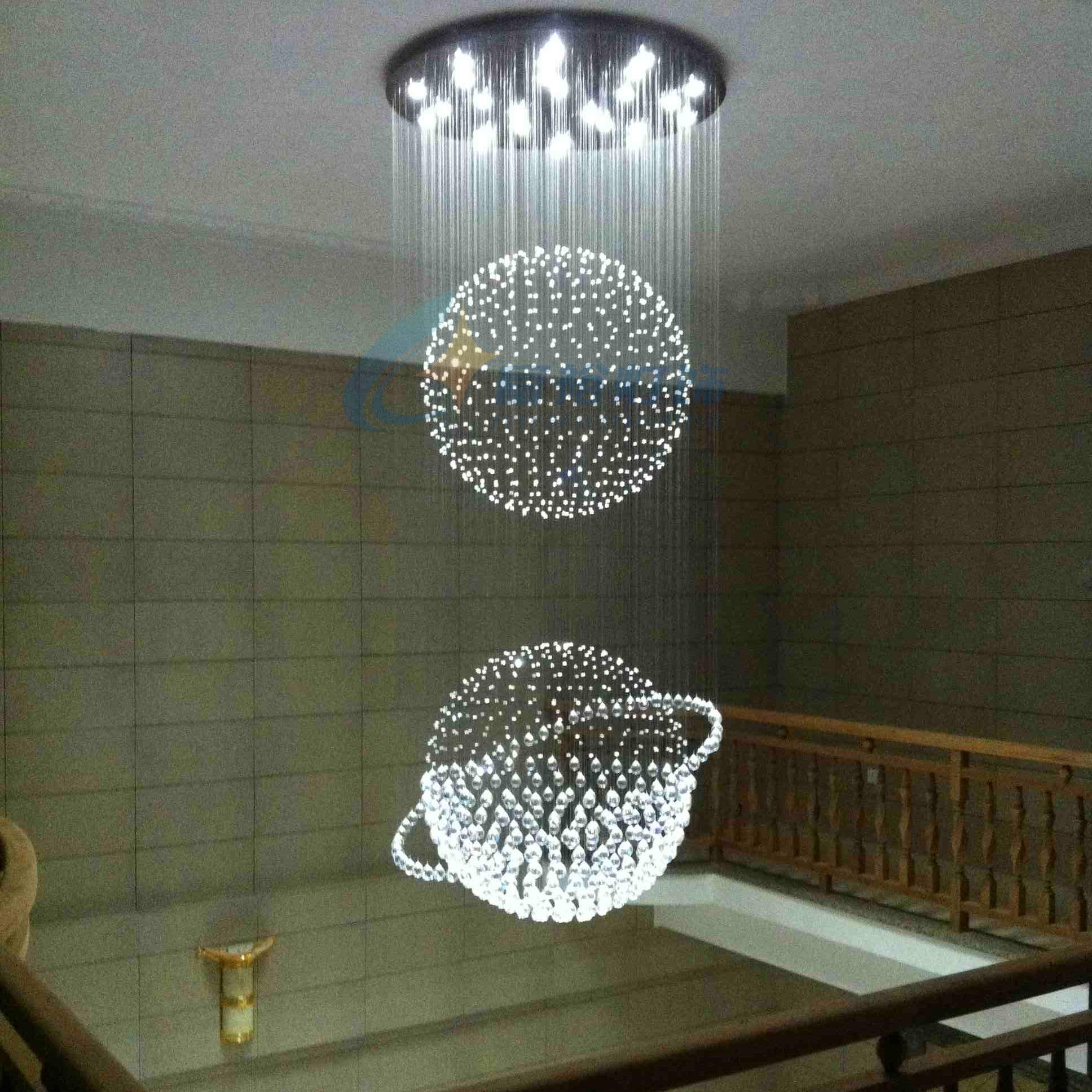Crystal hanglamp led restaurant verlichting moderne korte lampen trap lamp grote hanglamp 8632china