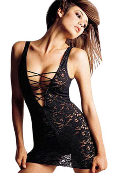 FIYOTE Sexy Womens Hot Sex Images, Sexy Lace Babydoll Lingerie LC2001 + Cheaper price + Free Shipping + Fast Delivery vestido