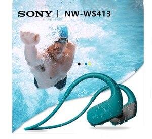 Image 1 - Sony headset para natação NW WS413 e corrida, headset com mp3 e acessórios integrados à prova d água sony ws413 walkman