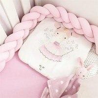 مصد سرير للأطفال 1 متر/2 متر مصد سرير للرضع مزود بعقدة ممتصة للرضع وواقي سرير للرضع لتزيين غرفة الأطفال