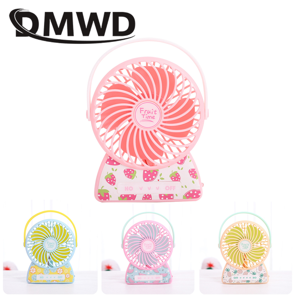 DMWD MINI rechargeable USB Gadget Desktop air cooling fan Portable handheld conditioner fans cooler Ventilador Small Mute Blower цена