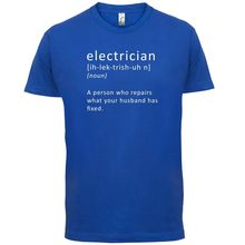 Electrician Definition - Mens T-Shirt Sparky / Tradesman FunnyMans Unique Cotton Short Sleeves O-Neck T Shirt Black Style