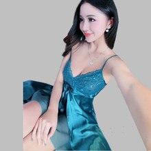 New 2016 Sexy Lingerie Spaghetti Strap Nighties For Women V-neck Lace Dress Short Sleepshirts Ladies Sleepwear Nightgowns A84