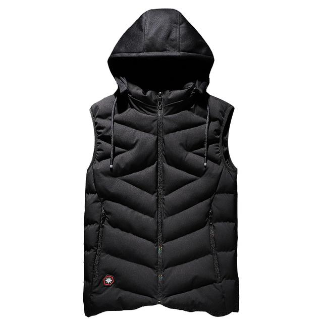 YIHUAHOO Vest Men Plus Size 6XL 7XL 8XL Casual Winter Sleeveless Jacket Male Hooded Thick Warm Parka Jacket Waistcoat Men XYN858