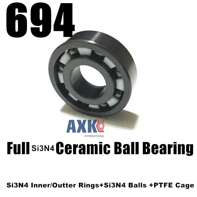 Free Shipping 694 SI3N4 Full ceramic bearing  619/4 4*11*4 mm  Full si3n4 ceramic ball bearings fishing vessel bearing бриджстоун дуэлер 694 в екатеринбурге