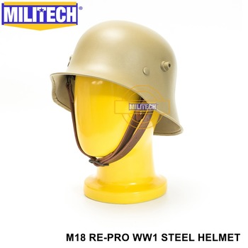Free Ship!! MILITECH Tan Colored World War One Helmet Safety Helmet WW1 German Helmet The Great War M18 Collection Re Pro Helmet