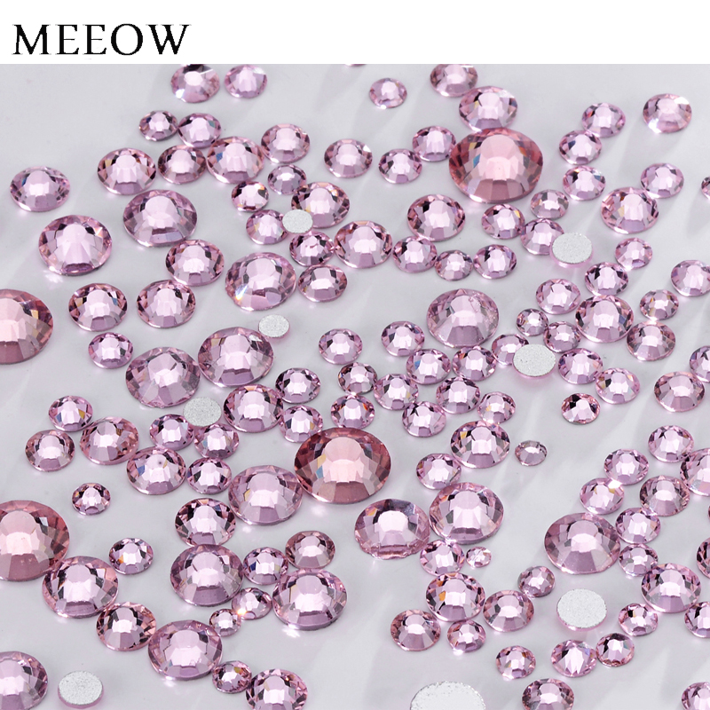 Rose Nail Art Rhinestones Flatback Non Hotfix High Quality More Shiny For DIY And Bags Decorations super shiny 5000p ss16 4mm crystal clear ab non hotfix rhinestones for 3d nail art decoration flatback rhinestones diy