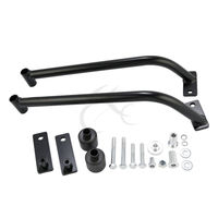 Steel Mounting Plate Frame Black Frame Rail Protectors For Suzuki GSXR 1000 2009 10 11 2012 Motorcycle