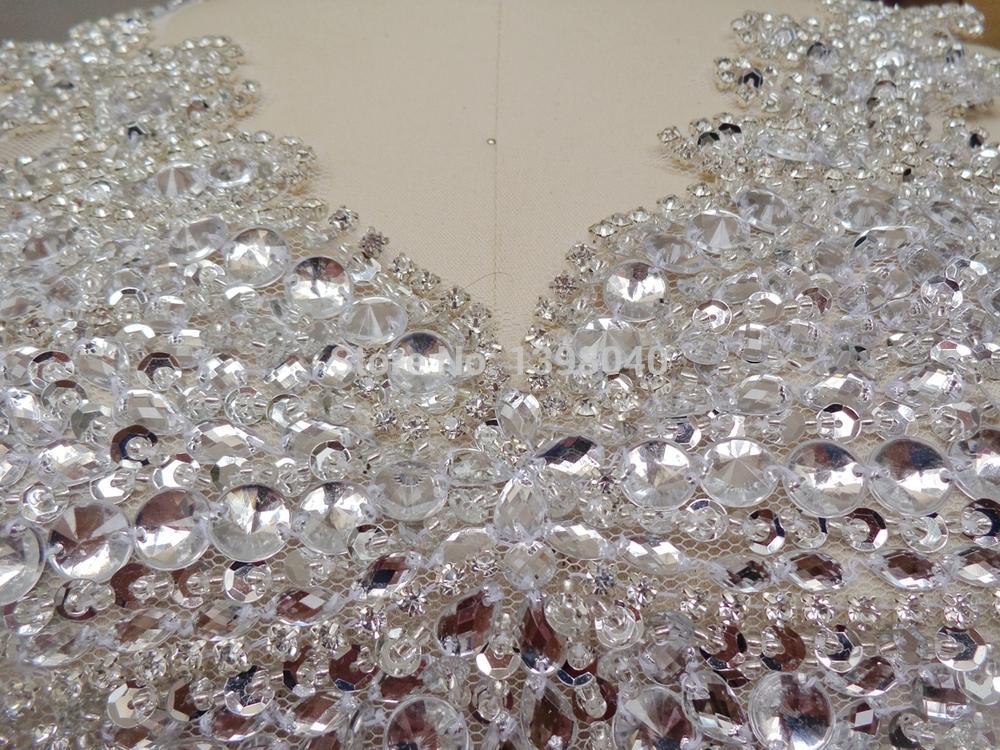 Prata artesanal 40*25 centímetros de cristal strass