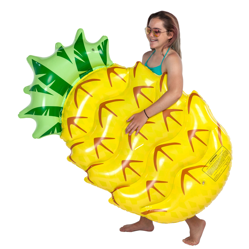 145CM 57inch Inflatable Pineapple Pool Float 2018 New Swimming Ring For Women Chilren Summer Water Fun Toys Lounger Air Mattress