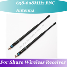 2Pair (4pcs) OEM 10.1 BNC  Rubber Antenna for Shure Wireless Receiver 638MHz-698MHz