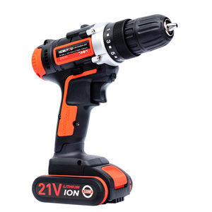 Image 2 - 21V Electric Screwdriver Cordless Drill Wireless Power Driver DC Lithium Ion Battery 3 / 8 inch 2 Speed  Smart Battery Display