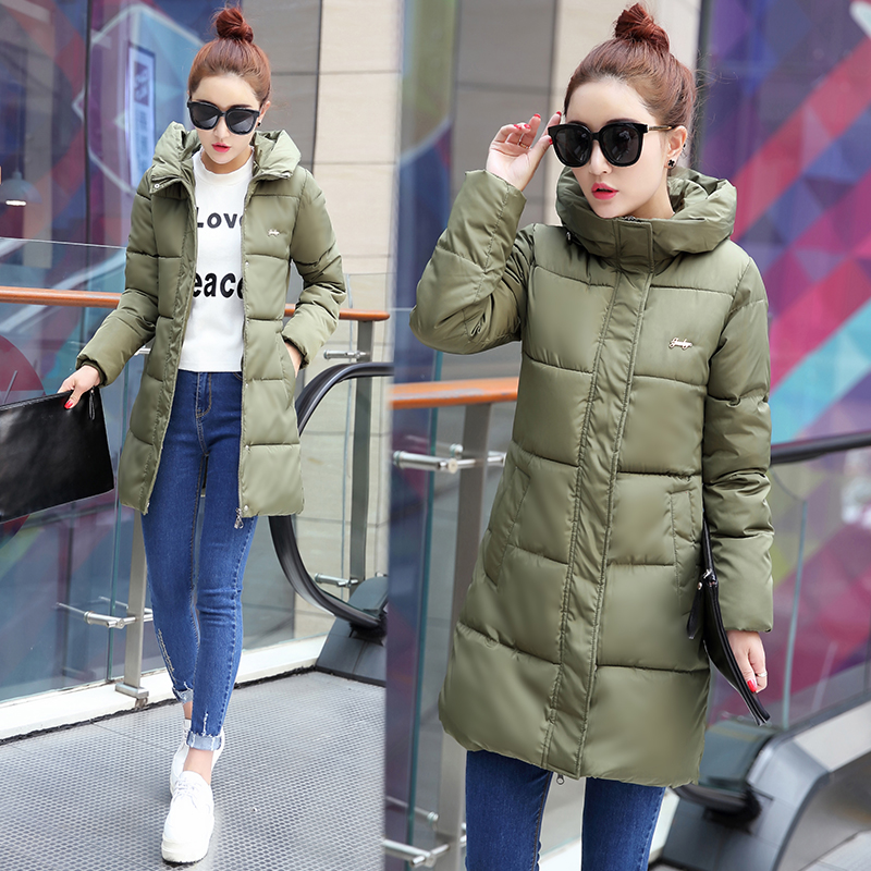 Plus size M-6XL autumn and winter medium-long with a hood wadded jacket cotton-padded jacket outerwear 100KG b5355 2016 new mori girl national trend loose plus size with a hood denim autumn and winter women medium long plus cotton thick vest