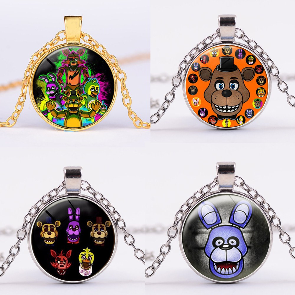8 Styles Five Nights At Freddy's Action Figure Toy Foxy Chica Freddy Necklace Alloy FNAF Toys Birthday Gifts