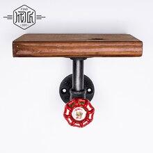 1 шт. 20*15 см деревянные настенные полки для ванной комнаты промышленные трубы винтажные держатели для хранения стеллажи для гостиной/кухни FJ-ZN1Y-003A0
