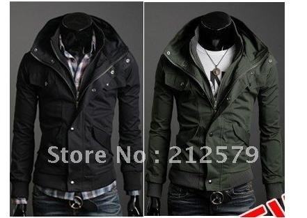 business casual jacket Mens Slim fashion Casual Jackets Hoodies,casual  vintage jumper collection 1414-