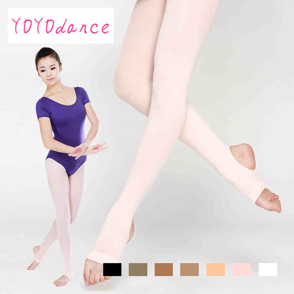 Women Stockings High Waist Plus Size Pantyhose Dance Thigh Highs Tights Soft Elastic Collant  Adult Ballet Stirrup  4822(China)
