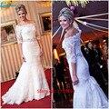 Vestido De Novia Elegant Off the Shoulder Lace Wedding Dresses Half Sleeve Robe Mariage Bridal Gowns Plus Size Custom Handwork