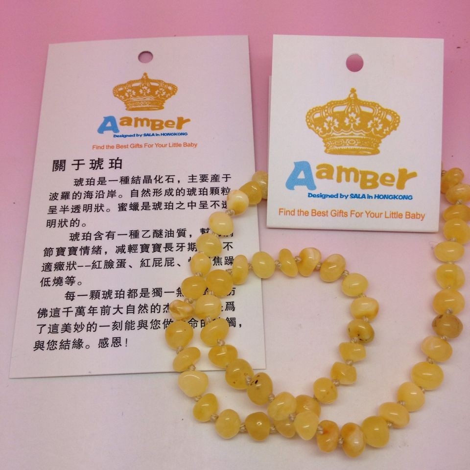 HTB195WYlLBNTKJjy0Fdq6APpVXaJ Yoowei Wholesale Natural Baltic Amber Necklace for Baby Adult 100% Real Irregular Baroque Amber Original Amber Baby Chip Jewelry