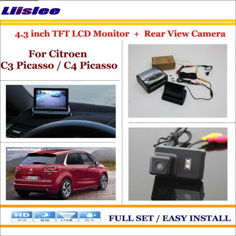 Liislee For Citroen C3 Picasso / C4 Picasso Car Reverse Rear Camera + 4.3