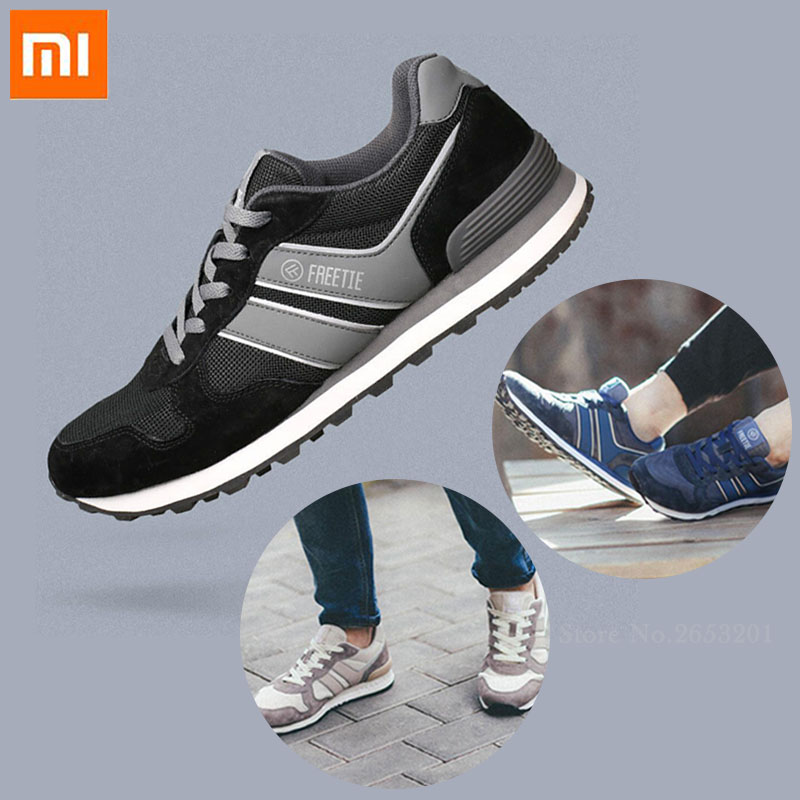 3color Original Xiaomi Sports Shoes FREETIE 80 Retro Casual Shoes Breathable Refreshing Mesh Comfortable And Stable
